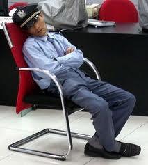 Photography convention sleeping gaurd