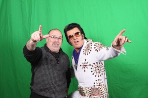 elvis green screen before