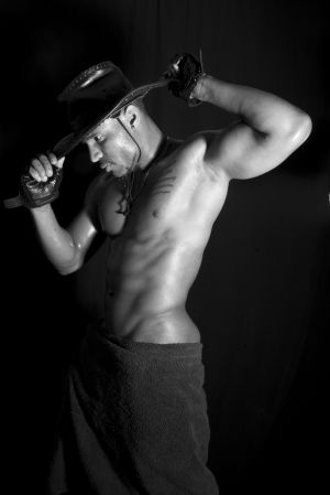 Las Vegas Exotic Male Dancer Anthony Cox performs for LAs Vegas Photographer  Costellophoto's Don Parnall
